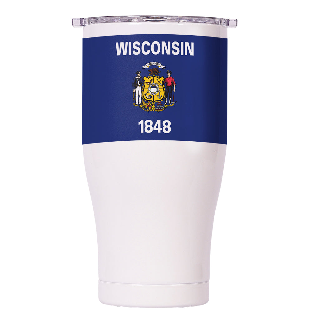 Wisconsin State Flag Chaser 27oz - ORCA