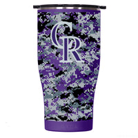 Colorado Rockies Digital Camo Chaser 27oz Purple/Black - ORCA