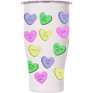 Conversation Hearts 27oz Chaser Pearl/Clear - ORCA