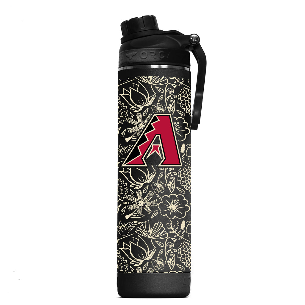 Arizona Diamondbacks Floral Sketch Hydra 22oz - ORCA
