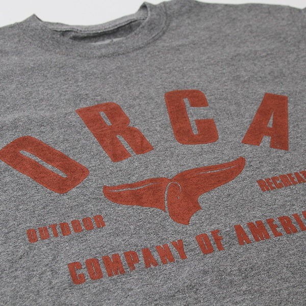 Front Heather Grey Short Sleeve Shirt - ORCA
