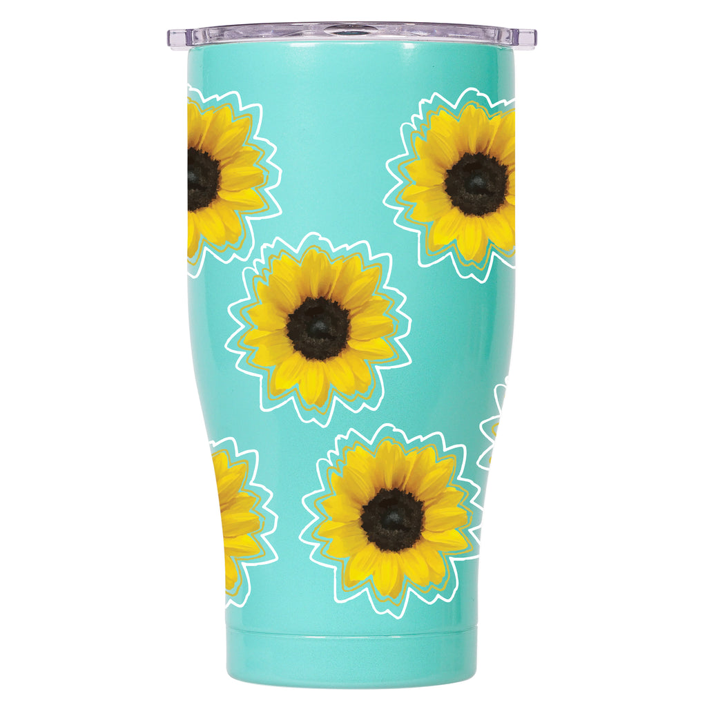 Sunflowers 27oz Chaser Seafoam/Clear - ORCA