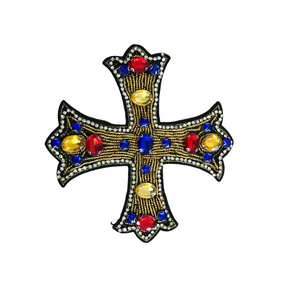 Cross Red/Gold (patch)