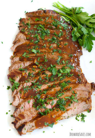 Marinated steak flank