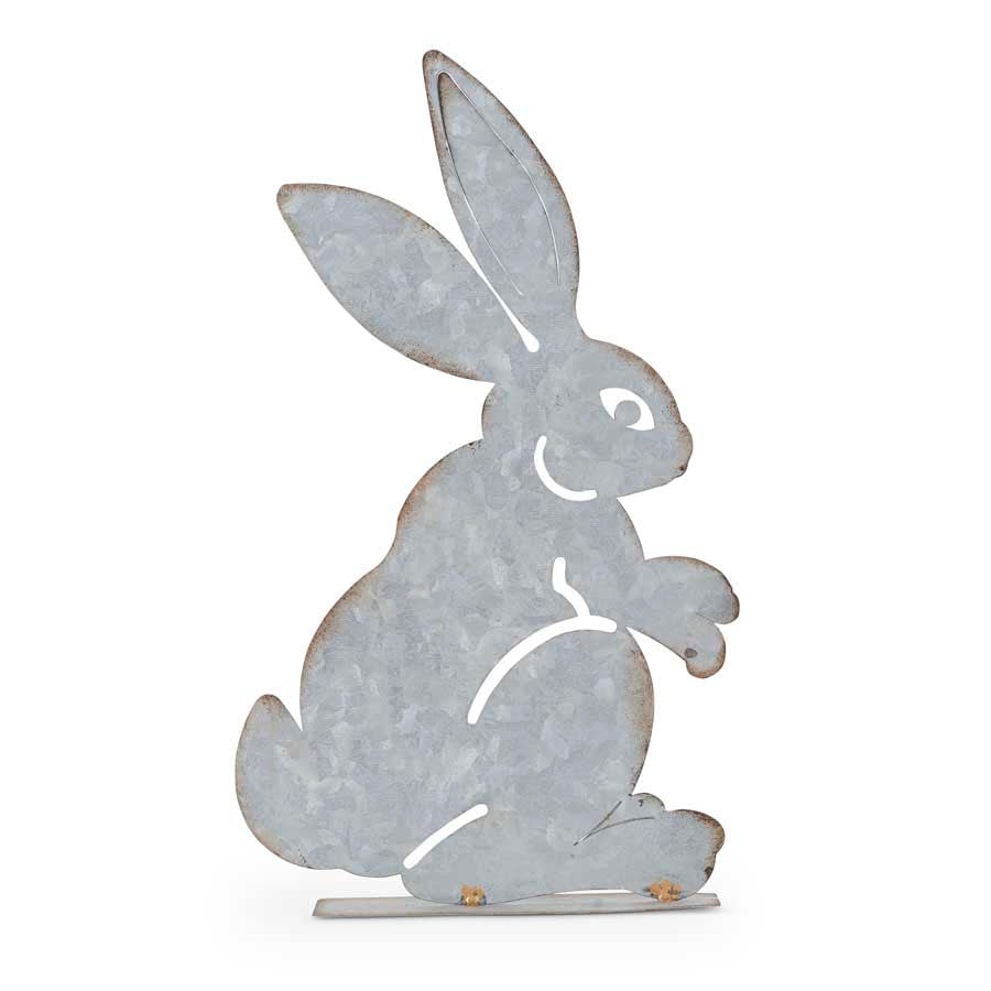 Standing Tin Tabletop Bunny