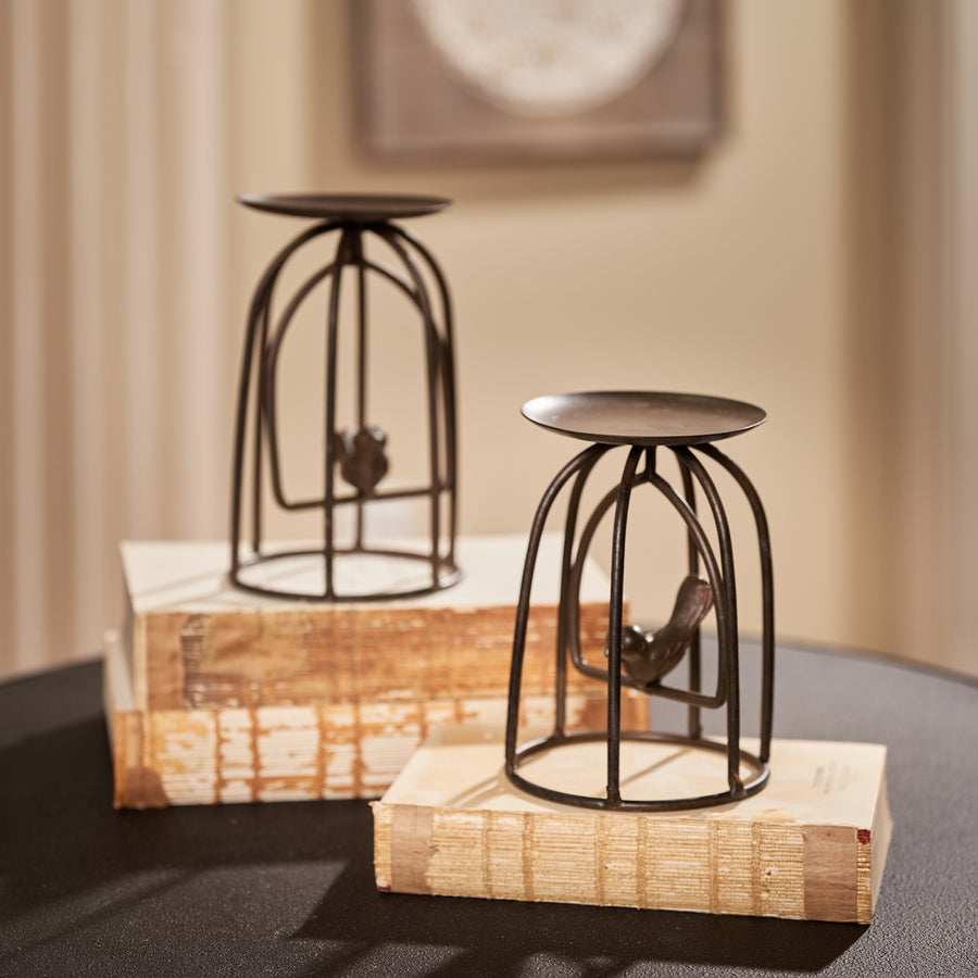 Caged Bird Candleholder, Small