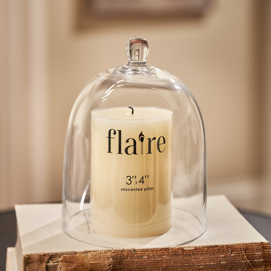 Flaire Unscented Short Ivory Pantry Pillar Candle