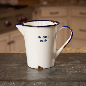 Vintage Reporduction Enameled Pitcher with Measurements