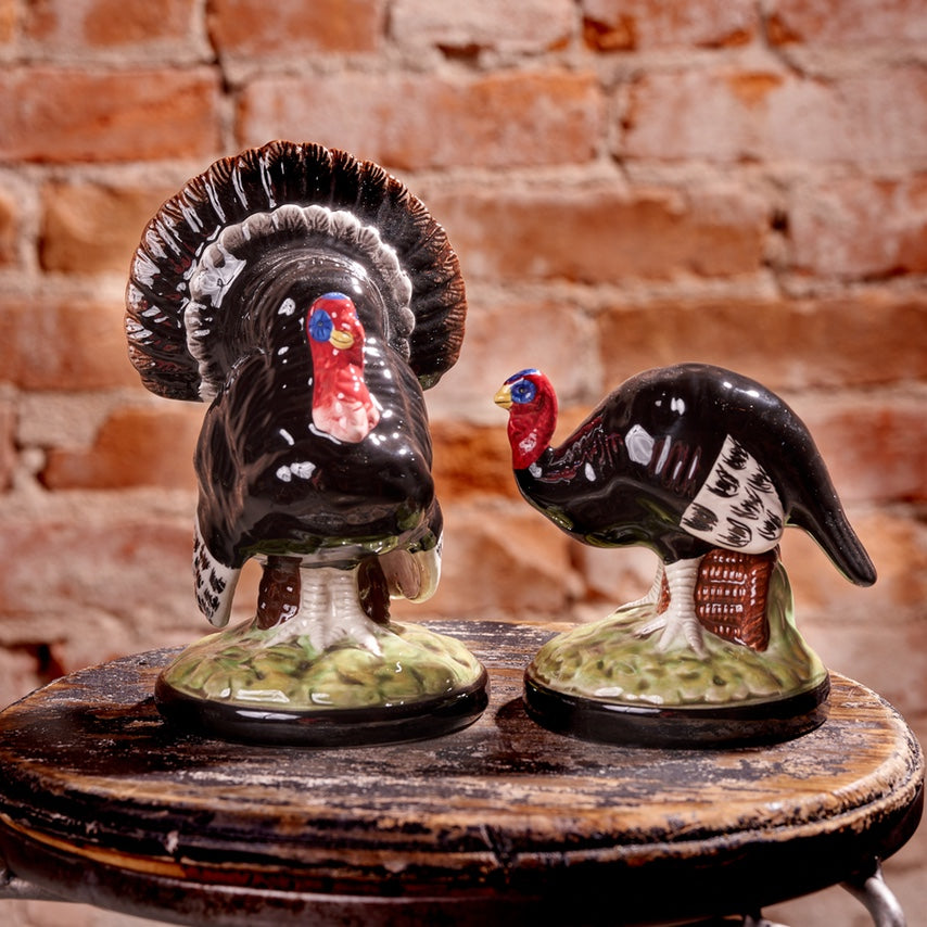 Ceramic Black Turkey Duo, Set/2