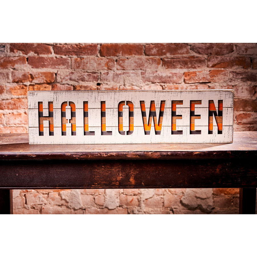 Striped Halloween Sign
