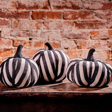 Trio of Striped Pumpkins, Set/3