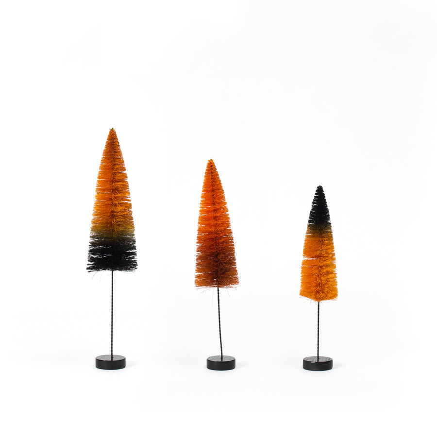 Halloween Ombre Bottle Brush Trees, Set/3