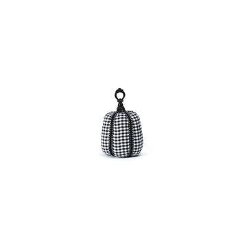 Black & White Checkered Pumpkin, Small