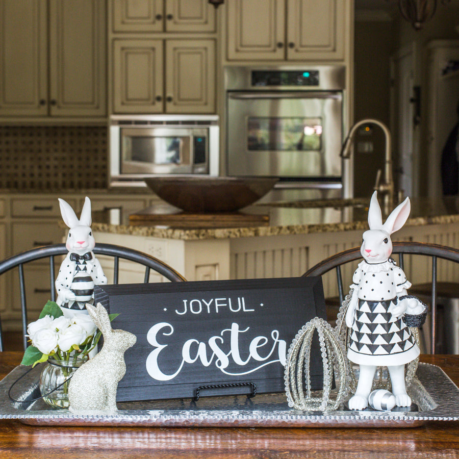 Black & White Joyful Easter Sign