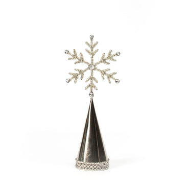 Beaded Snowflake Topper, Small