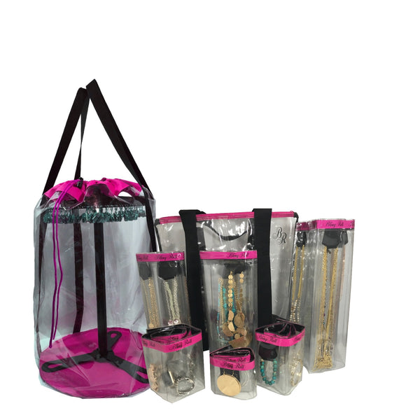 All Inclusive Pink Bling Roll Bundle * blue bling roll bag and bracelet bling roll substitute