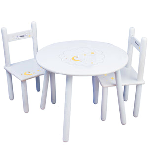 Personalized Celestial Moon Table and Chair Set