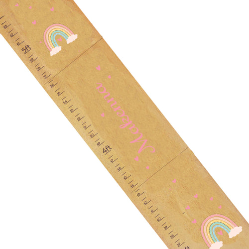 Personalized Boho Rainbow Natural Growth Chart