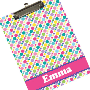 Custom Polka Dot Clipboard