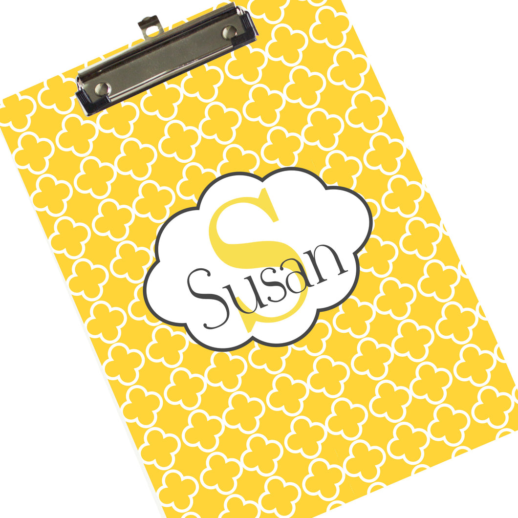 Custom Monogrammed Clipboard - Yellow Gold