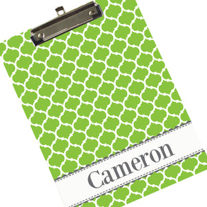 Personalized Lime Moroccan Clipboard