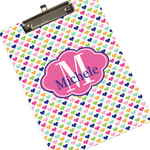 Girl's Personalized Clipboard - Sweet Heart Gift