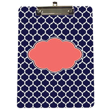 Personalized Navy Blue Moroccan Clipboard