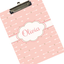Personalized Blush Arrow Clipboard