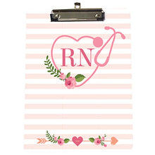 Monogrammed Clipboard for Nurse RN Arrow