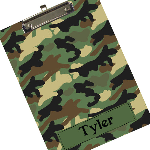 Custom Blue Camoflauge Clipboard