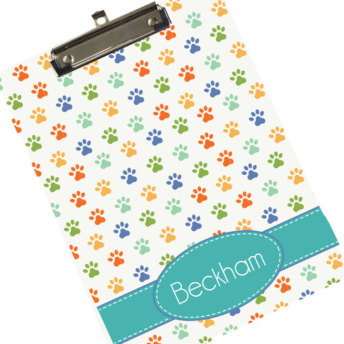 Personalized Paw Print Clipboard