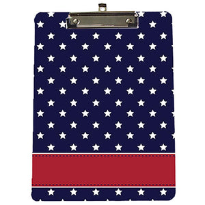 Custom Patriotic Star Spangle Clipboard