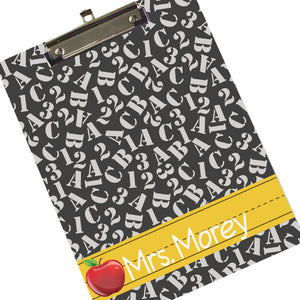 Monogrammed Teacher's Clipboard
