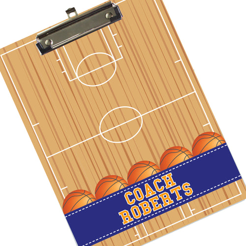 Monogrammed Basketball Clipboard - Coach Player