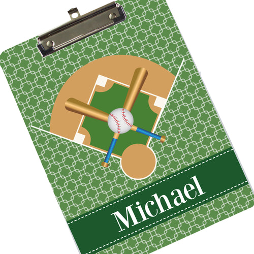 Personalized Baseball Player Clipboard