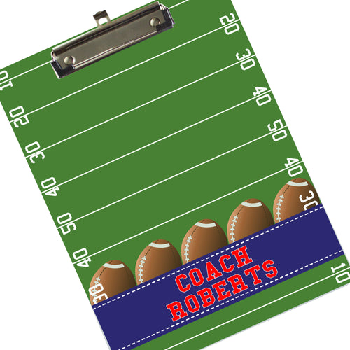 Personalized Football Clipboard
