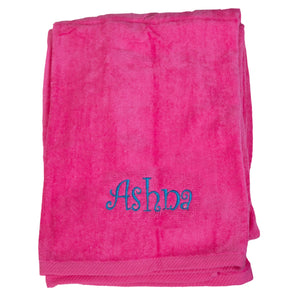 Personalized Beach Towel Pink