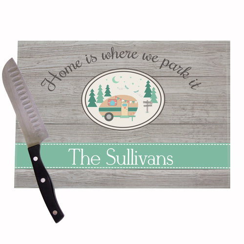 Personalized Camper Cutting Board