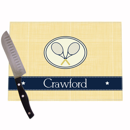 Tennis Personalized Cutting Board