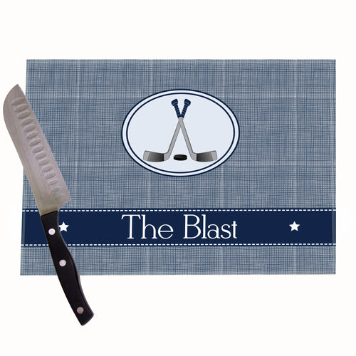 Ice Hockey Personalized Cutting Board