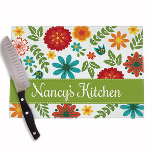 Botanical Wallpaper Personalized Cutting Board