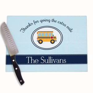 Bus Driver Personalized Cutting Board