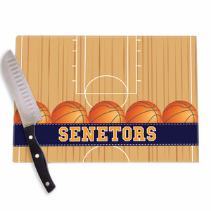 Basketball Court Personalized Cutting Board