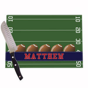 Football Field Personalized Cutting Board