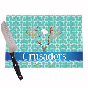 Lacrosse Field Personalized Cutting Board