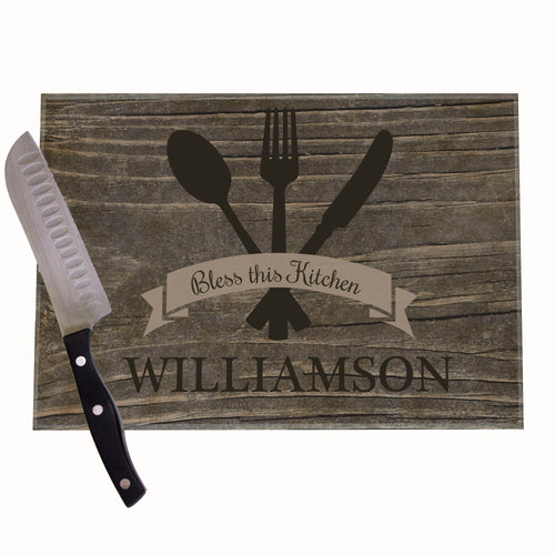 Spoon Fork Personalized Cutting Board