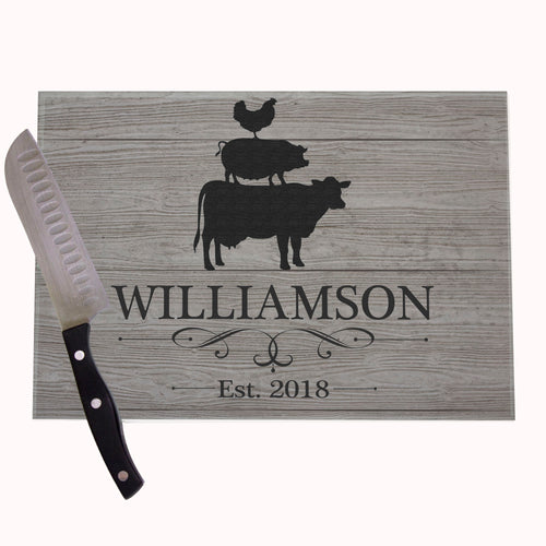Chicken Pig Personalized Cutting Board