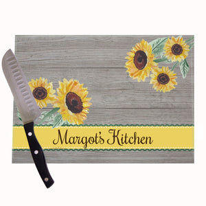 Sunflower Kitchen Personalized Cutting Board