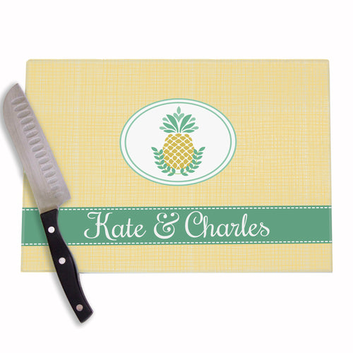 Personalized Pineapple Cutting Board