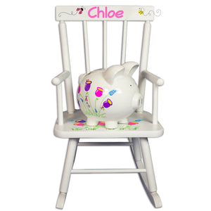 Childs Rocker with Piggy Bank Gift Set